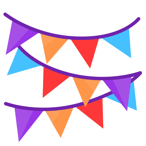Chain, flag, newyears, party icon - Free download